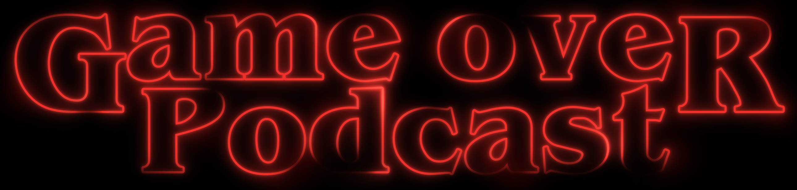 Logo for Game Over Podcast